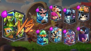 SUPER GOBLIN TEAM VS ALL TEAMS | CLASH ROYALE TEAM CHALLENGE