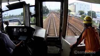 日本最速130km/h!JR西日本新快速前面展望 thumbnail
