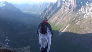 Wingsuit in Norway - Trollstigen