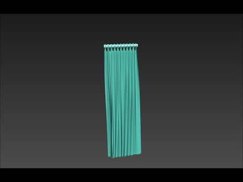 3Ds Max Tutorial 16 - Cloth Modifier, Creating a Curtain 1