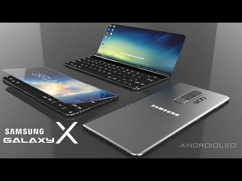 Samsung Galaxy X with 360° moving display, 8GB RAM (iPhone X killer) Best concept smartphone 2019
