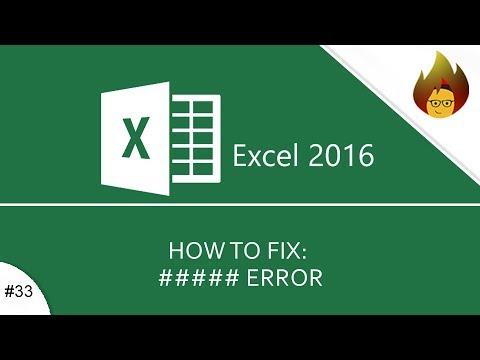 How to Fix a Hashtag Problem | Excel 2016