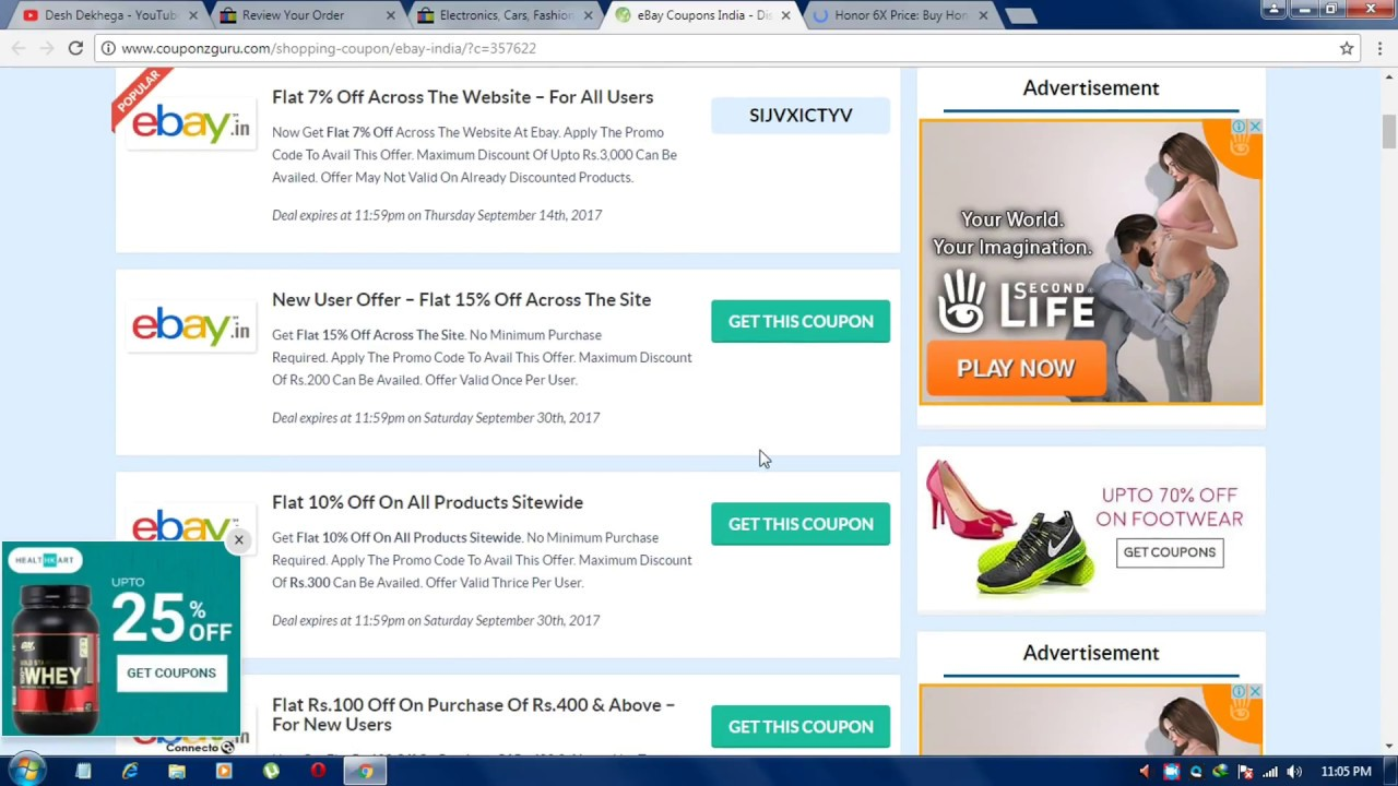 b3c16976867 howto get free coupon   discount on online purchase from ebay.in ...