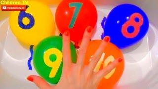 Семья Пальчиков Учим Цифры 6-10 Цвета Лопаем Шарики Finger family Learning Colours Number ChildrenTV