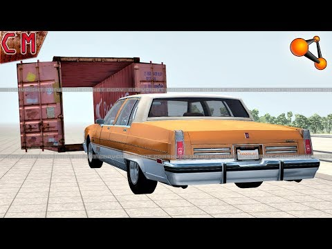 Hard Stunts and Crashes (Open Cargo doors, flips, Jumps) BeamNG Drive