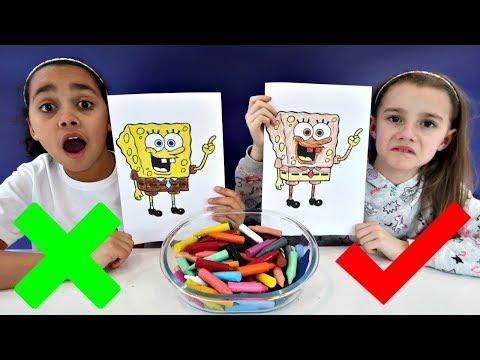 3 MARKER CHALLENGE With Spongebob Squarepants   Toys AndMe