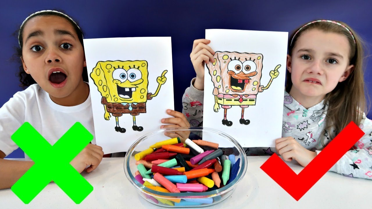3 Marker Challenge With Spongebob Squarepants Toys Andme