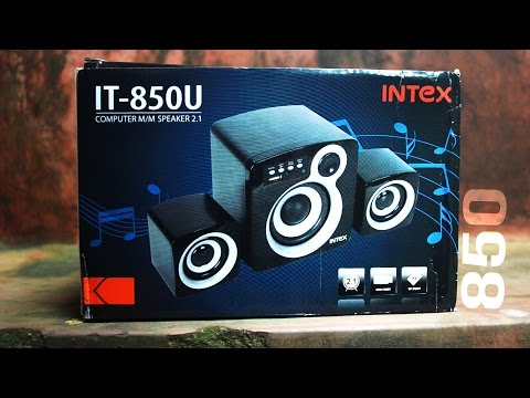 Unboxing-Intex-It 850U Multimedia Speakers|Hindi|