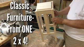 Classic Furniture made from ONE 2x4!