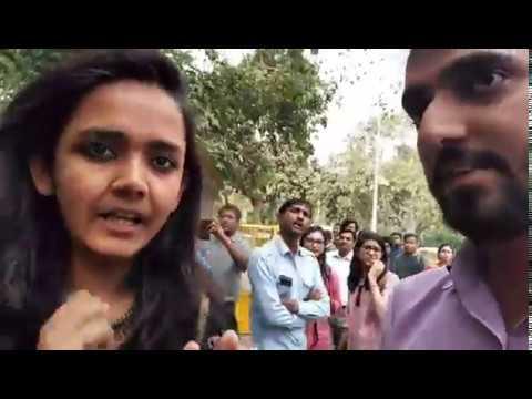 Protest against Maneka Gandhi by Pinjra Tod