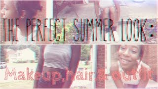Perfect Summer Look! ☼ Makeup,Hair,& Outfit! Thumbnail