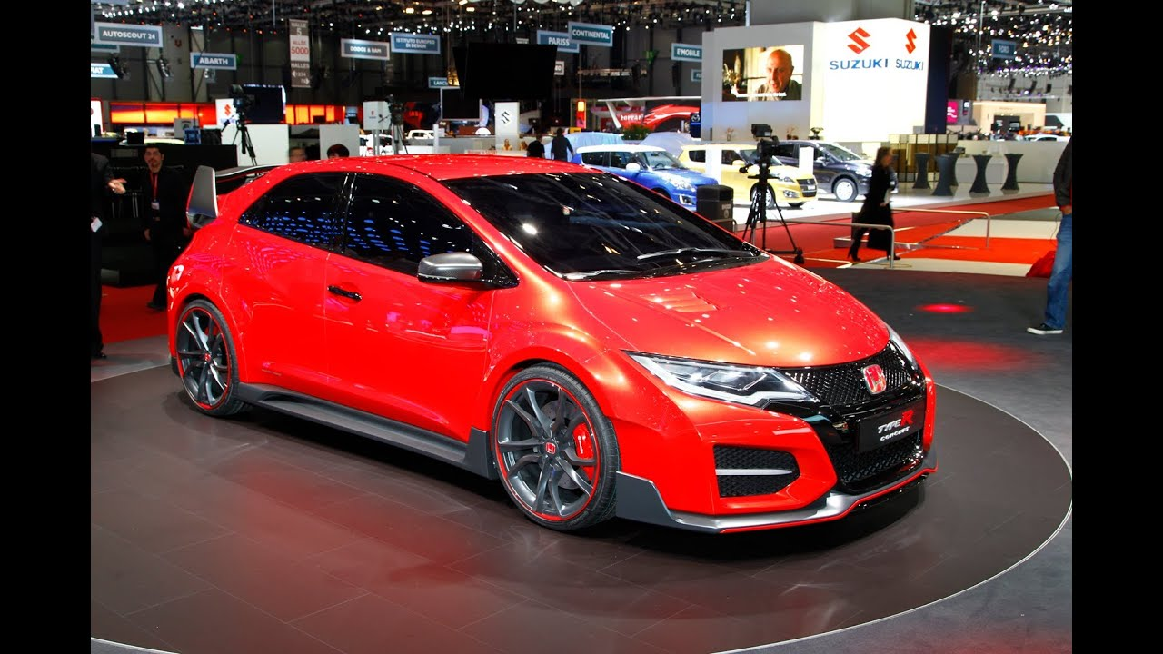 Geneva motor show 2014: Race-bred Honda Civic Type-R concept - YouTube