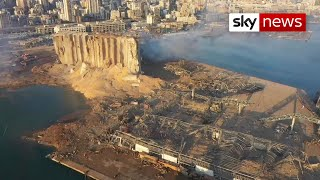 Beirut: Aerial footage after the explosion