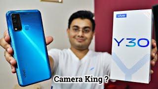 ViVO Y30 Unboxing and Review 🔥 4 Cameras 📸  5000 mAh Battery 🔋 सस्ते में सब कुछ है इसमें