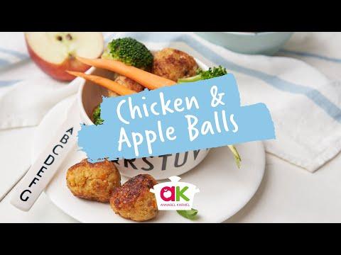 Mini Chicken And Apple Balls With Binky Felstead