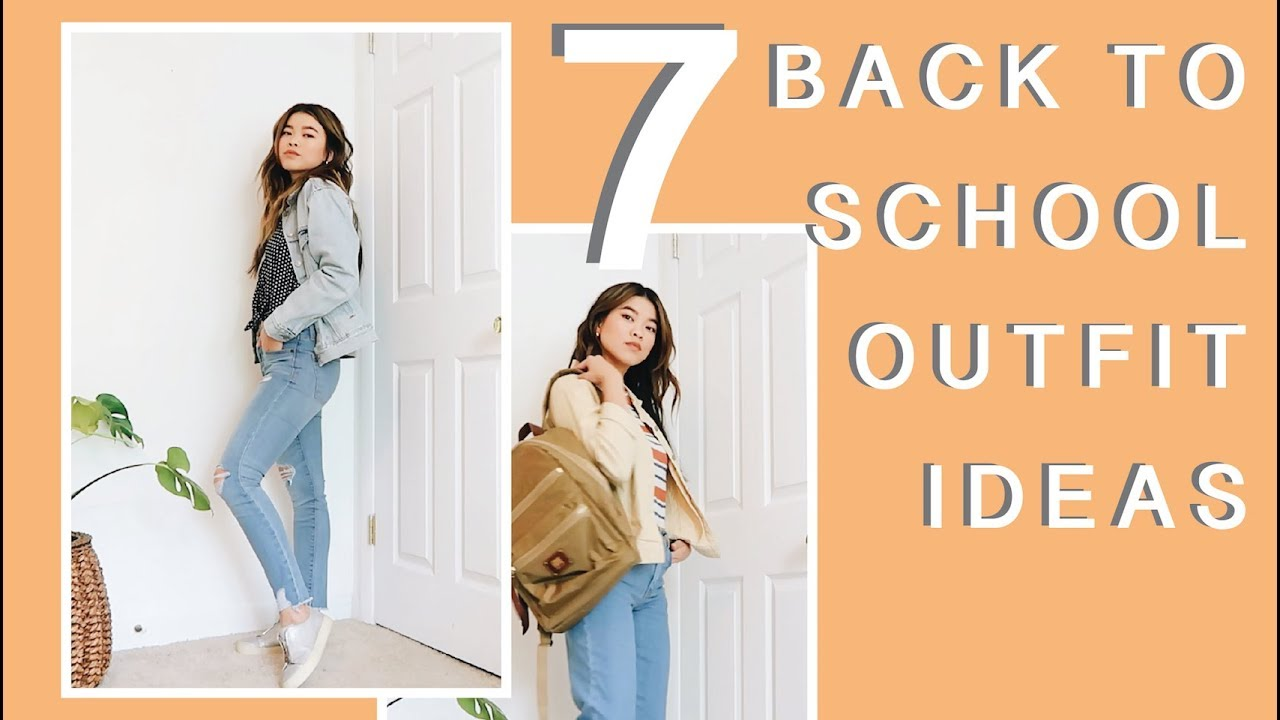 7 BACK TO SCHOOL OUTFIT IDEAS - 2018 // by CHLOE WEN 2
