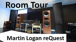 Strength of electrostatic speakers, HI-FI Room Tour, Martin Logan reQuest with DIY subs