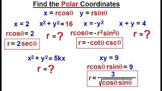 Calculus 2: Polar Coordinates (12 of 38) Find the Polar Equations***