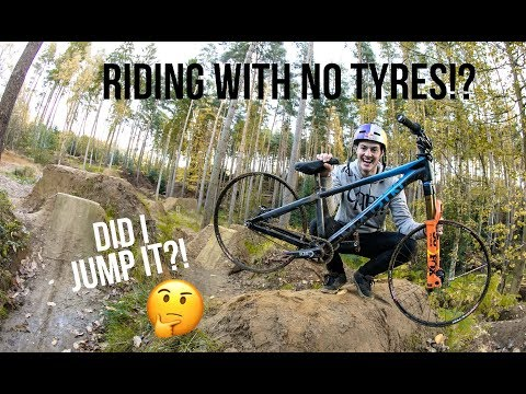 RIDING WITH NO TYRES!