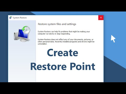 Windows 10 - How To Create A System Restore Point