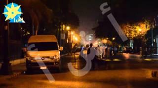 انفراد بالفيديو: قوات الامن تغلق شارع القصر العيني للإشتباه في أتوبيس أمام مجلس الشوري
