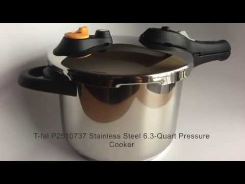 T Fal P2510737 Stainless Steel 63 Quart Pressure Cooker Youtube