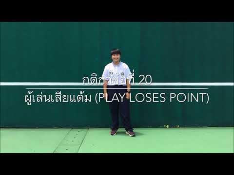 กติกาเทนนิส 40 ข้อ