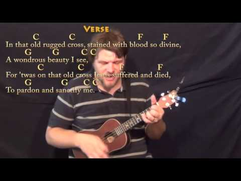 The Old Rugged Cross - Ukulele Cover Lesson in C with Chords/Lyrics