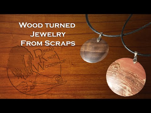 Wood Turned Jewelry From Scraps