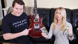 Wife Changes Guitar Strings