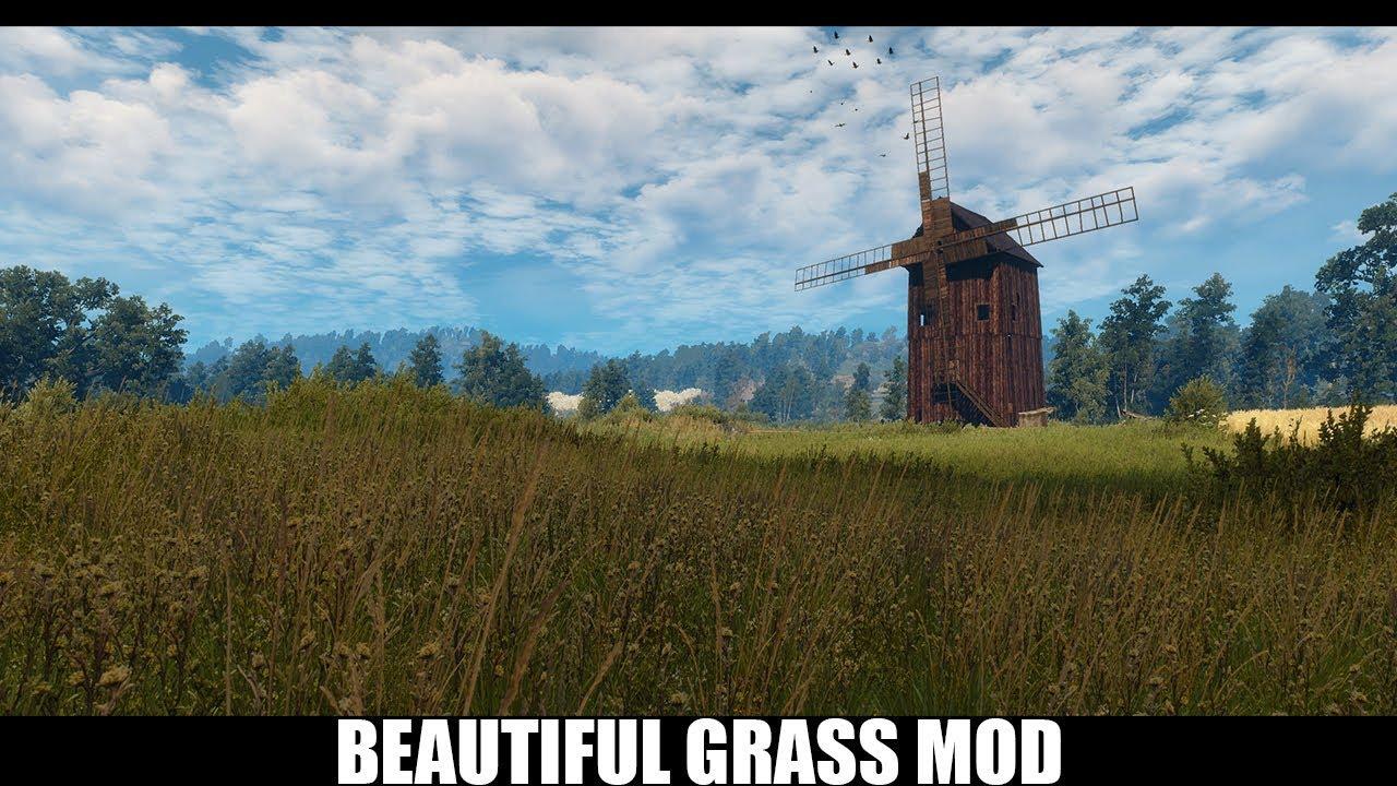 The Witcher 3 Mods - Beautiful Grass Mod