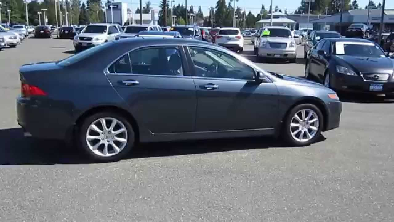 2008 acura tsx carbon gray pearl stock 13400p walk around youtube