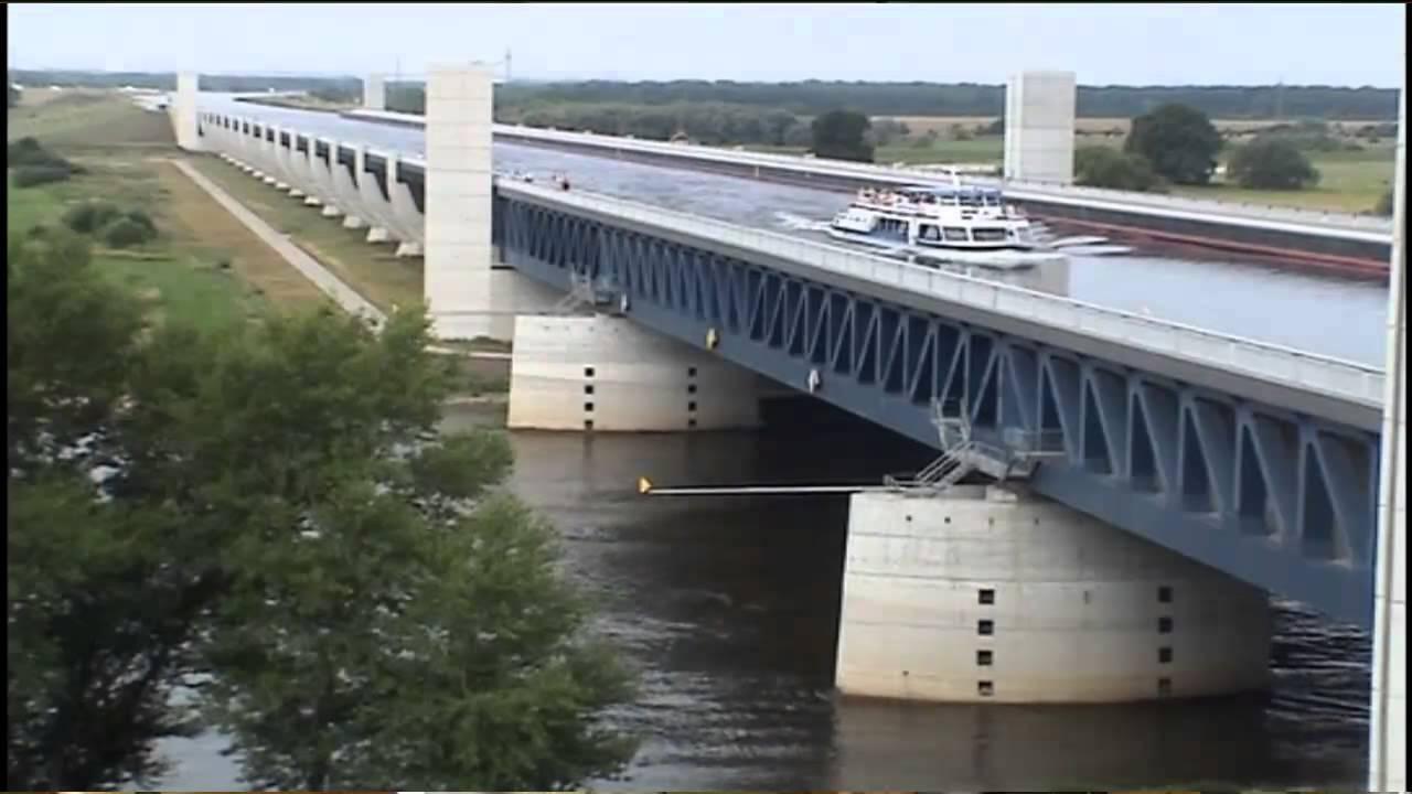 Filmbericht -Trogbrücke und Infopunkt Hohenwarthe - YouTube