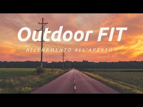 Workout outdoor #outdoorfit-allenati all'aperto
