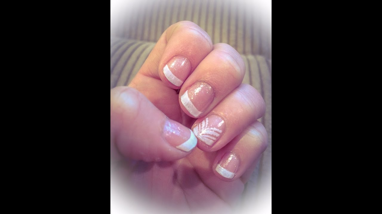 Quick and easy french manicure with konad nail stamping art youtube quick and easy french manicure with konad nail stamping art prinsesfo Images