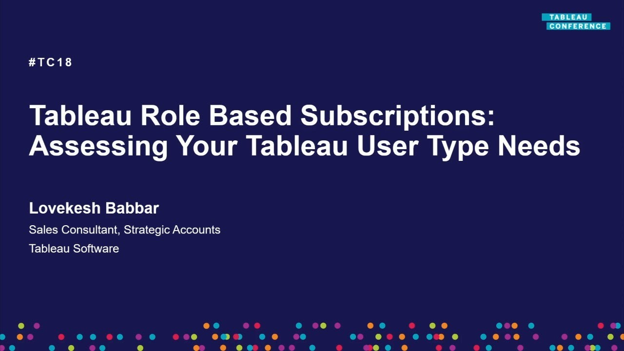 Assessing your Tableau user type needs for Creator, Explorer, Viewer