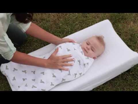 How to Swaddle a Newborn | Easy Baby Wrap Technique| aden + anais
