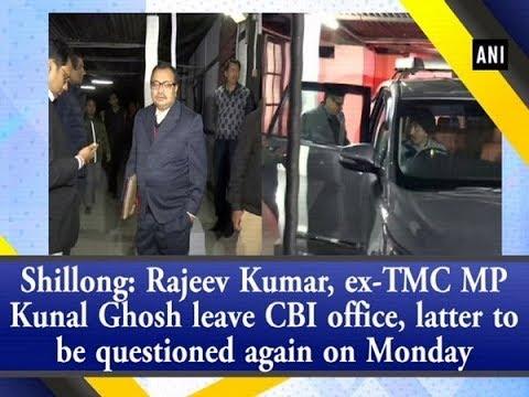 Shillong: Rajeev Kumar, ex-TMC MP Kunal Ghosh leave CBI office after day long- questioning Mp3