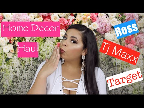 Home Decor Haul Ross Target Tj Maxx Youtube