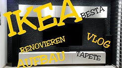 IKEA BESTA WOHNWAND WOHNZIMMER RENOVIEREN TAPEZIEREN VLOG DEUTSCH HAUL