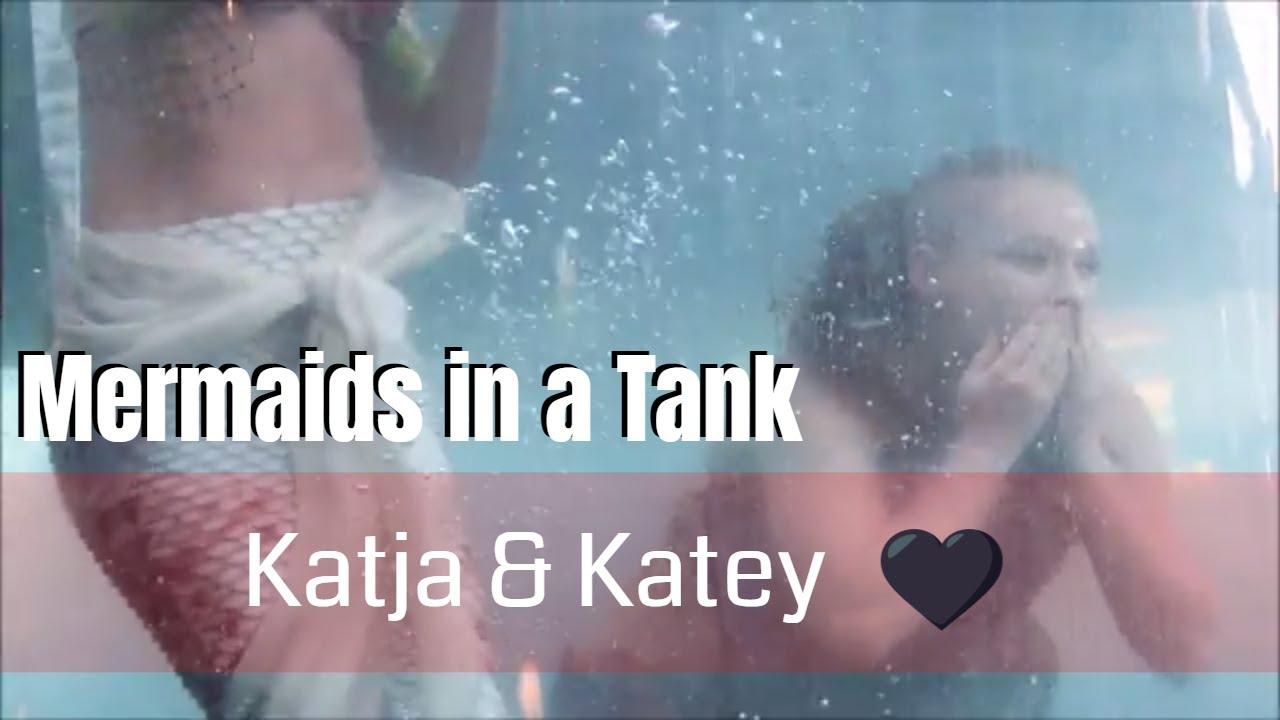 MERMAIDS SWIMMING IN TANKS: Mermaids Katja & Katey MERMAID MEGAFEST (Siren  Circus & Ohio Mermaids)