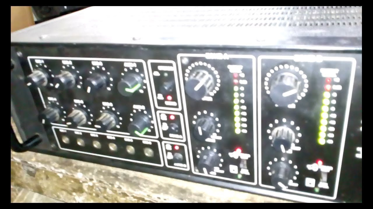 200+200 Watts two channel AHUJA AMPLIFIER - YouTube