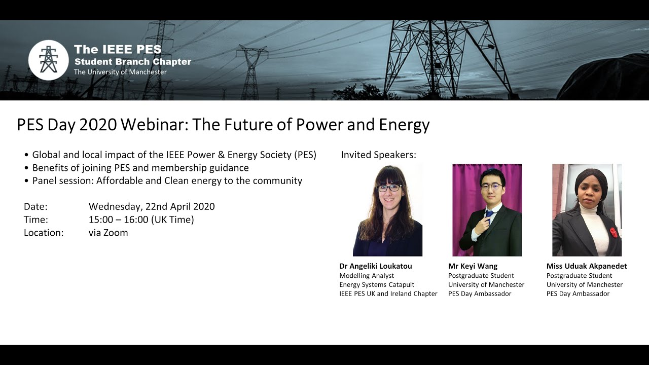 Download PES Day 2020 Webinar: the Future of Power and Energy