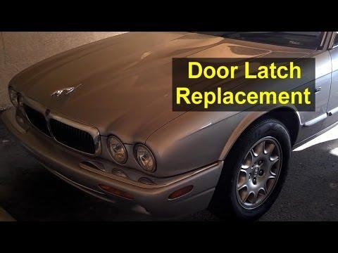 Jaguar XJ8 door will not open. Door panel removal, latch removal – Auto Repair Series