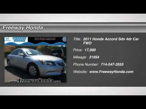 2011 HONDA ACCORD SEDAN SANTA ANA IRVINE TUSTIN ANAHEIM ORANGE RANCHO SANTA MARGARITA