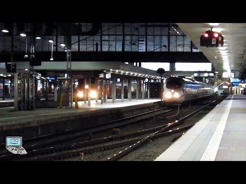 München Hbf [spätabends] mit ICEs, Regionalzüge, Meridian-Züge, BOB, alex, EN+CNL