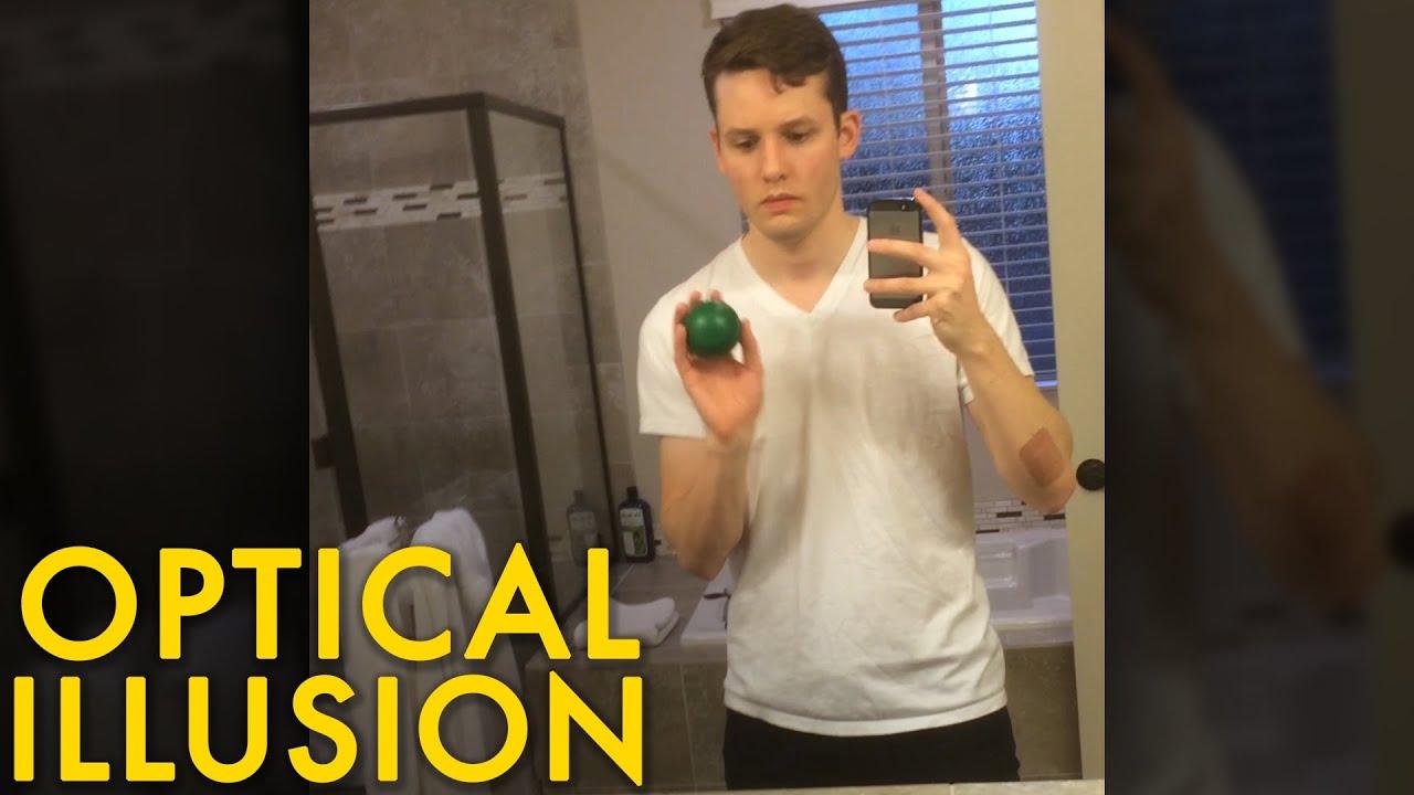 Magically Throwing A Ball Through A Mirror Optical