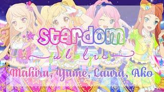 Aikatsu Stars! STARDOM! Full + Lyrics Mahiru, Yume, Laura, Ako
