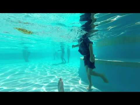 gopro swimming footage diving local swimming pool,Australia