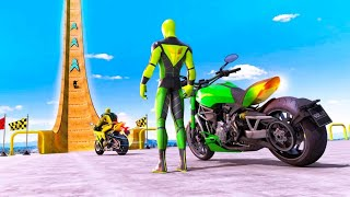 SUPER HERO BIKE STUNT GT RACING GAMES #New MotorCycle Race Game #Bike Games To Play #Racing Games